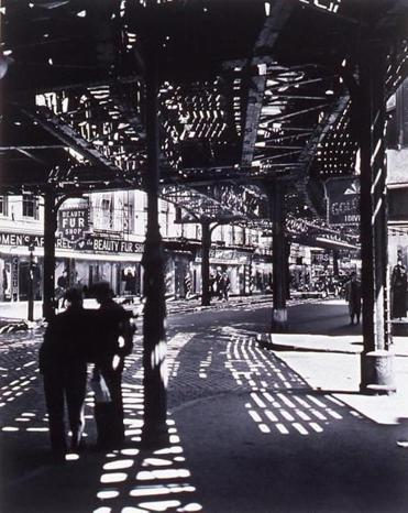 "Berenice Abbott's ""El, 2nd and 3rd Avenue Lines."""